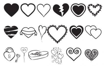 free vector Hearts Vectors Mix