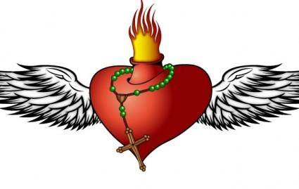 free vector Burning Heart