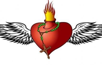 free vector Burning Heart