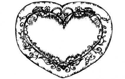 free vector Sketchy Heart