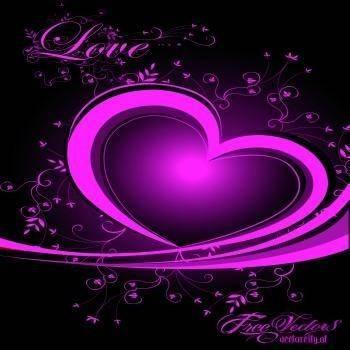 free vector Love heart vector illustration