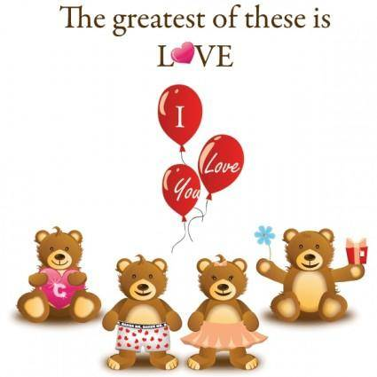 free vector Love Bears