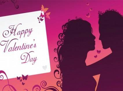 free vector Happy Valentines day greeting card