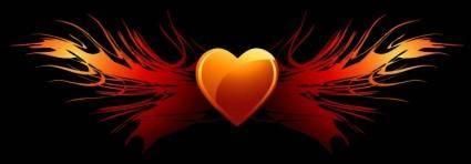 Flaming Heart Wings