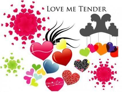 free vector Various Hearts