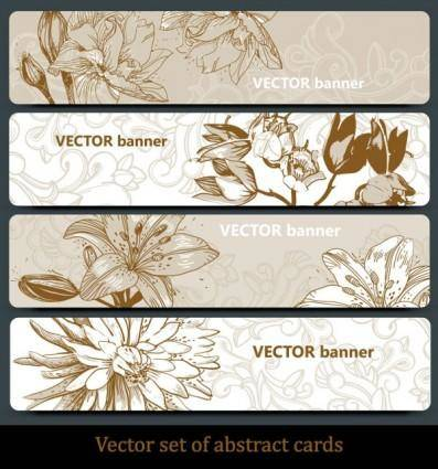 free vector Line art pattern banner01vector