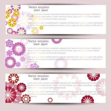 free vector The exquisite pattern banner01vector