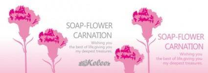 free vector Carnation banner vector