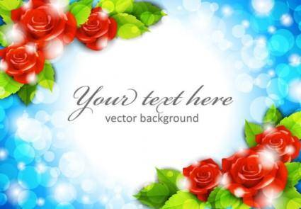 free vector Roses border 02 vector