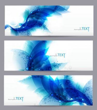 free vector Dynamic trend banner05vector