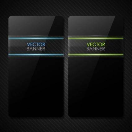 free vector The black cool banner01vector