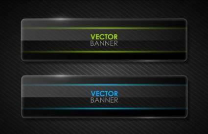 free vector The black cool banner05vector