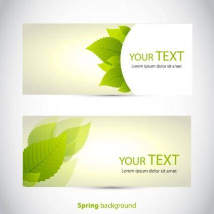 free vector Beautifully banner01vector