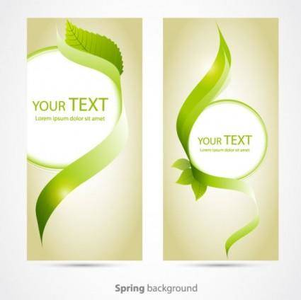 free vector Beautifully banner02vector
