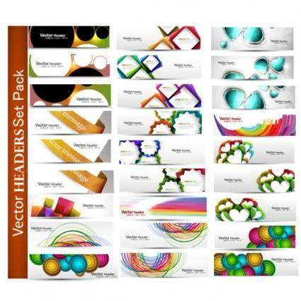 The fashion patterns banner01vector