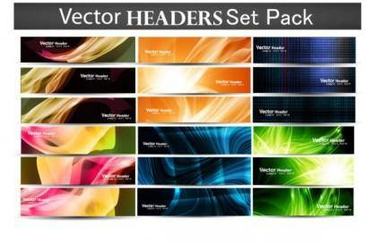 free vector The fashion patterns banner02vector