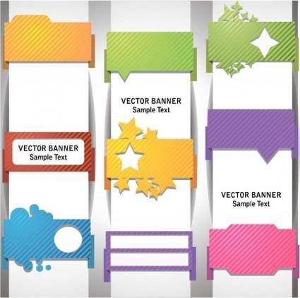 free vector Wrap angle banner01vector