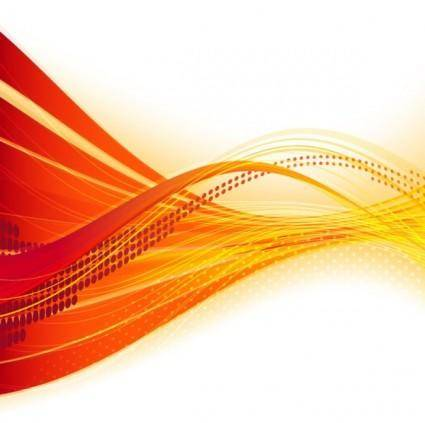 free vector Dynamic flow line bannervector