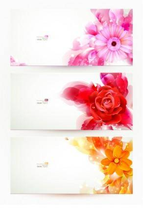 free vector Banner04gorgeous fashion pattern vector