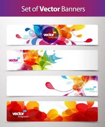 Banner01dynamic pattern vector