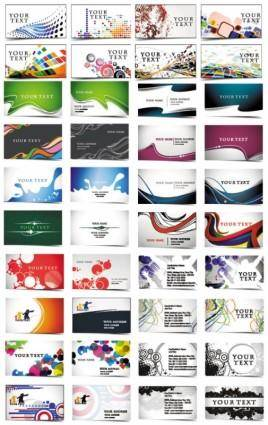 free vector 24 beautiful and practical business card templates vector