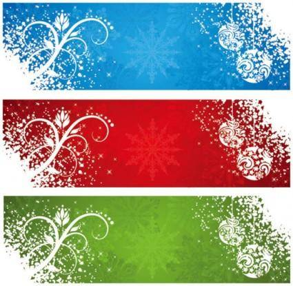 free vector Beautiful snow banner vector