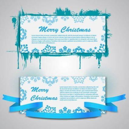 free vector Christmas banners 03 vector