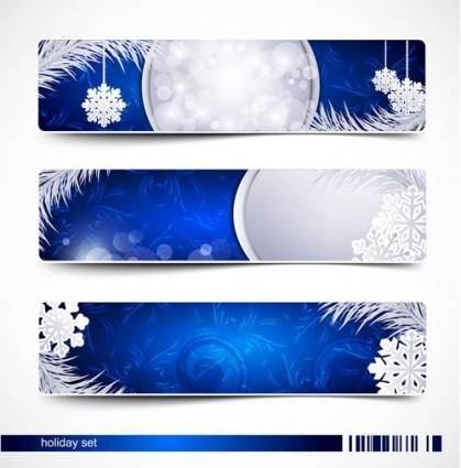 free vector Beautiful christmas snow banner vector