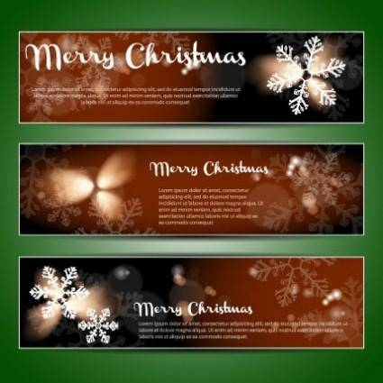 Christmas banners 01 vector