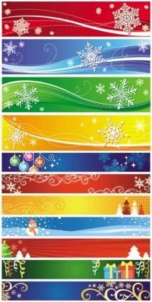 free vector Exquisite christmas banner vector