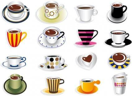 All kinds of fine coffee vector