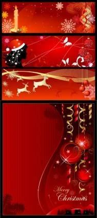 Christmas background banner vector