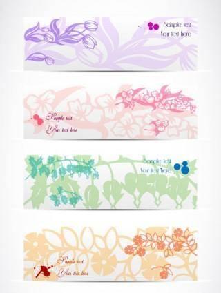 free vector Elegant pattern banner01 vector