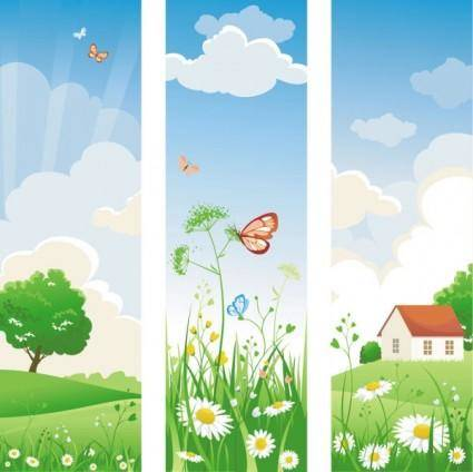 Spring of banner02 vector