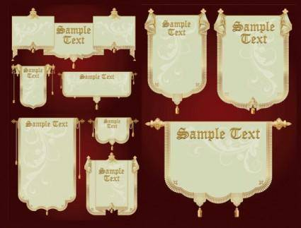free vector Europeanstyle banner vector