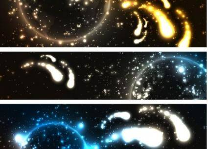 free vector Bright stars banner2 vector