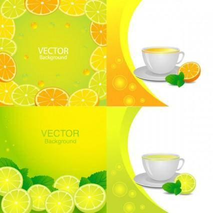 free vector Delicious orange juice elements vector