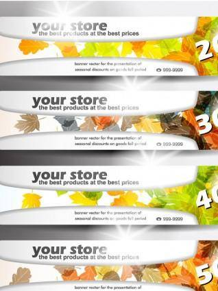 free vector Banners of various themes 01 vector