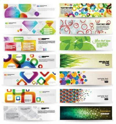 free vector Dynamic colorful banner vector