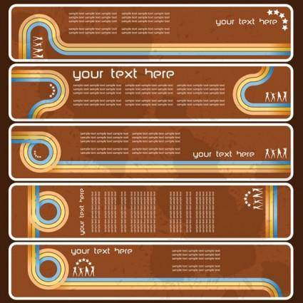 free vector Old banner vector