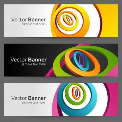 Gorgeous bright banner02 vector