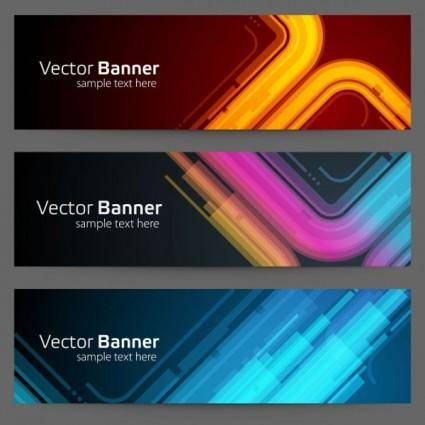 free vector Gorgeous bright banner01 vector