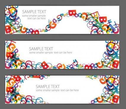 free vector Beautiful letter banner vector