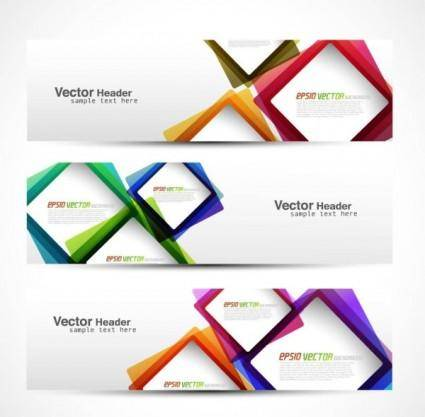 free vector Abstract modern graphics banner02 vector