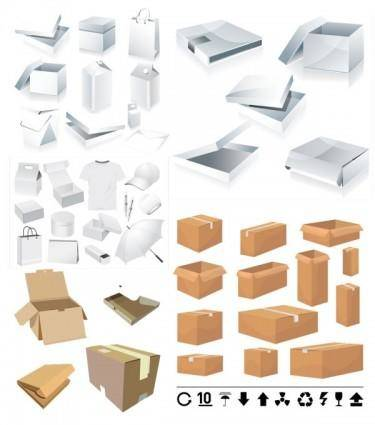 And carton box template vector