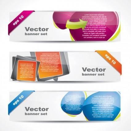 free vector Web banner boutique 01 vector