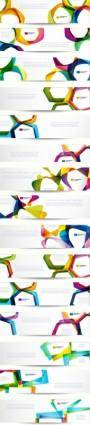 free vector The trend of dynamic flow line banner vector