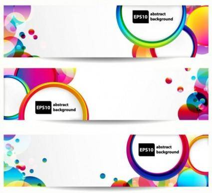free vector Brilliant dynamic banner01 vector