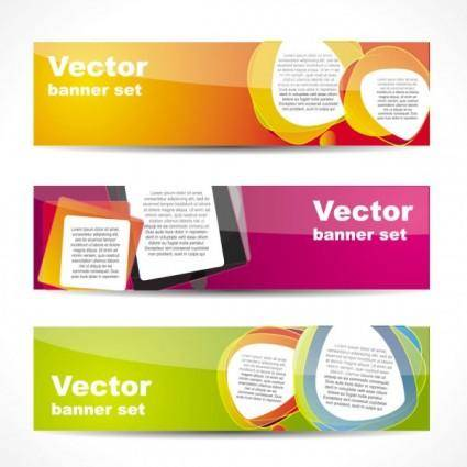 free vector Fashion glossy banner 02 vector