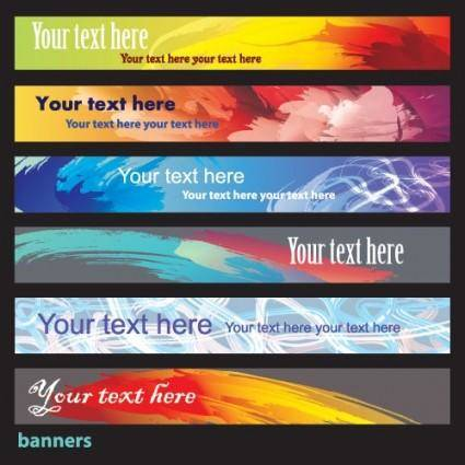 Brilliant dynamic banners 05 vector